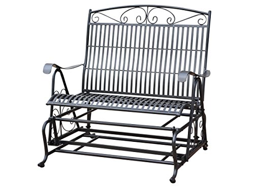 International Caravan Sonoma Outdoor Iron Patio Double Glider by Mandalay
