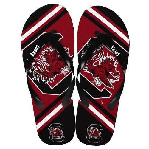 - NCAA Collegiate Team Big Logo Unisex Flip Flop Beach Sandals - Choose Team (South Carolina Gamecocks, Medium (9-10))