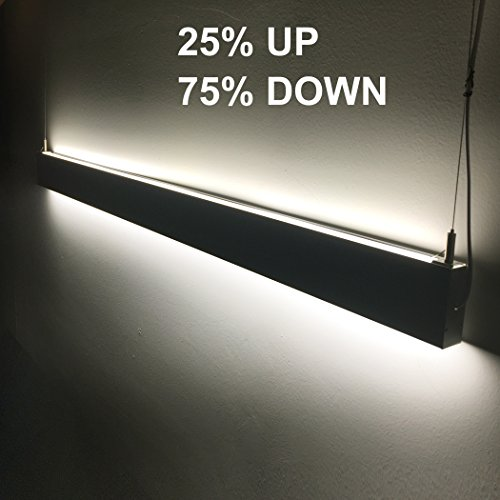 EULEEP Linear Suspension LED Lights,47 inches 36W, Up And Down Double Side Light Emitting, Slim Line Modern Design Use For Office Lighting, Supermarket Lighting - Light Linear Suspension