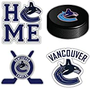 """Canucks Hockey - Vancouver Set of 4 Car Bumper Stickers Decals 5"""" Longer"""