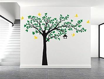 Yanqiao Vögel Fliegen auf Baum Wandtattoo Wandaufkleber Wand ...