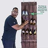 Osier Hanging Shoe Organizer,Over the Door Shoe Organizer with 24 Pockets
