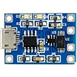 1x TP4056 4.2W 5V 1.2A Lithium Battery Charge Discharging Protection Module with Micro USB