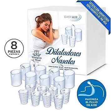 Dilatador Nasal 4 Piezas Semi Duras y 4 Silicona Blanda 100% Sin BPA | Dilatadores