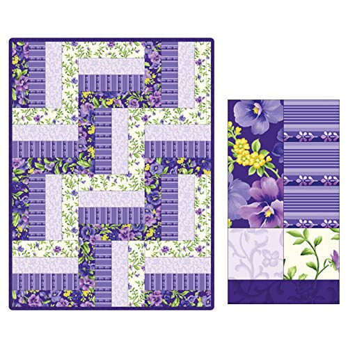 - Maywood Studio Quilt Kit Pod Emma's Garden 12 Block Rail Fence Multi