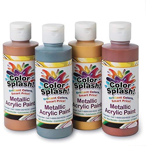 - 8-oz. Color Splash!A Metallic Acrylic Paint Assortment (Set of 4)