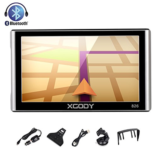 GPS Navigation for Car, Xgody 7 Inch Support POI Capacitive screen 8GB US and Canada Lifetime Maps Update Spoken Turn-to-Turn Truck Vehicle GPS Navigator System for Cars