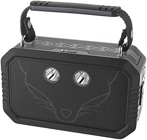 DOSS 21565 Waterproof Bluetooth Speaker - Black