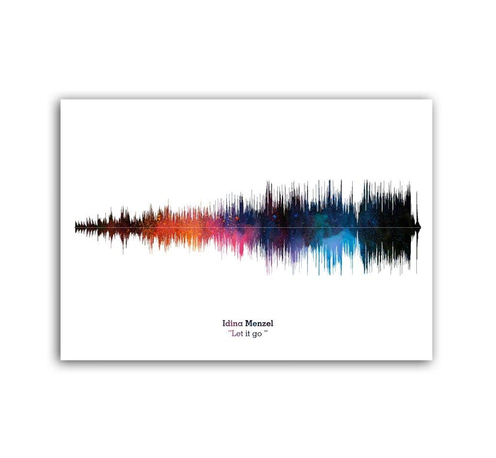 Lab No. 4 Idina Menzel Let It Go Song Soundwave Lyrics Music Print ...