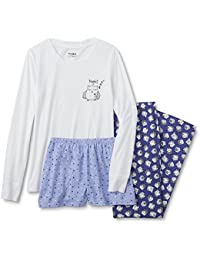 Women's Plus Size 3-Piece Pajamas Lounge Set With Shirt, Shorts, and Pants