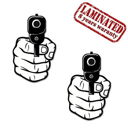 Skino 2 x PVC Laminated Pistols Guns war Protection Stickers Z 160