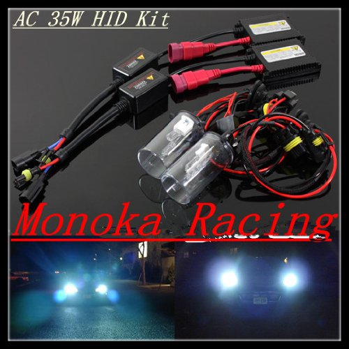 A Set of Ac Slim Ballasts 35w H4/9003 Xenon HID Full Conversion Kit Xenon High/Low Dual Beam 8000K Color Temperatures(white 80% ,blue 20%) for 05 06 07 08 09 Kia Spectra EX/LX/SX