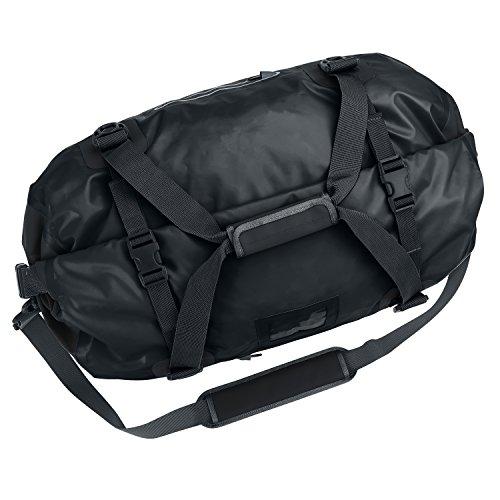 DuffelSak-Waterproof-Duffel-Bag-500D-PVC-60L-Roll-Top-Duffle-with-Welded-Seams-Carry-Handle-Shoulder-Straps-Inner-Zip-Pocket-2-Splash-Proof-Outer-Zip-Pockets-Reflective-Trim