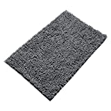 Vdomus Non-slip Microfiber Shag Bathroom Mat 20 x 32-Inches (Grey)