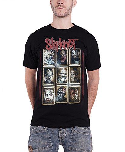 Slipknot Masks gray chapter Official Mens New Black T Shirt all sizes (Slipknot Official Masks)