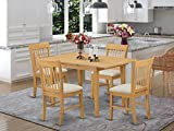 NOFK5-OAK-C 5 Pc dinette set for small spaces - Table and 4 Dining Table Chairs