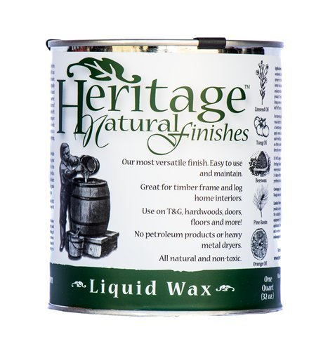 (Heritage Natural Finishes – Liquid Wax End Sealer – Non-staining Joinery, End Grain Sealer, and Buffing Wax – All-natural and Nontoxic, 1)
