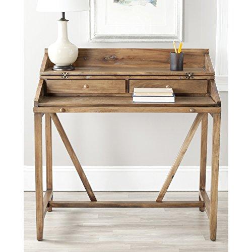 Wyatt Collection - Safavieh American Homes Collection Wyatt Oak Writing Desk