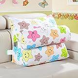 DW&HX bedside Triangular wedge,Reading pillow,Back cushion Floating window Back cushion Sofa Pillow [office] Belt pillow-K 60x25x50cm(24x10x20inch)