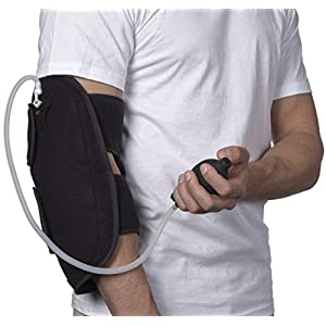 NatraCure Hot/Cold & Air Compression Elbow Brace Support - (6017 CAT) - Alleviates Pain from Tendonitis, Tennis Elbow, Arthritis, Joint Pain, and Sports Injury