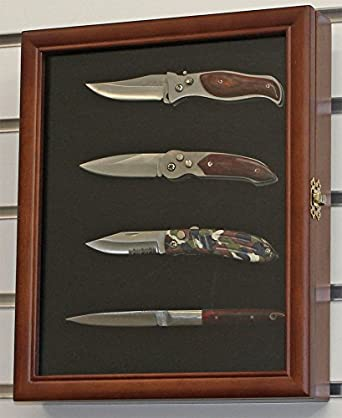 Amazon walnut knife display case shadow box wall mount glass walnut knife display case shadow box wall mount glass door solid wood frame planetlyrics