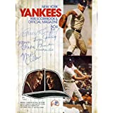 Stengel Mrs Lou Gehrig Mel Allen Gabe Paul Etc Signed 1974 Yankees Cover - JSA Certified - MLB Programs