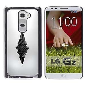 MobileHut / LG G2 D800 D802 D802TA D803 VS980 LS980 / Poly Art Dagger Death Deep Silk Grey / Delgado Negro Plástico caso cubierta Shell Armor Funda Case Cover