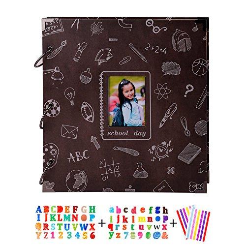 - SICOHOME Scrapbook Album,Black,School Days Chalkboard Scrapbook with Photo Opening,10 1/2