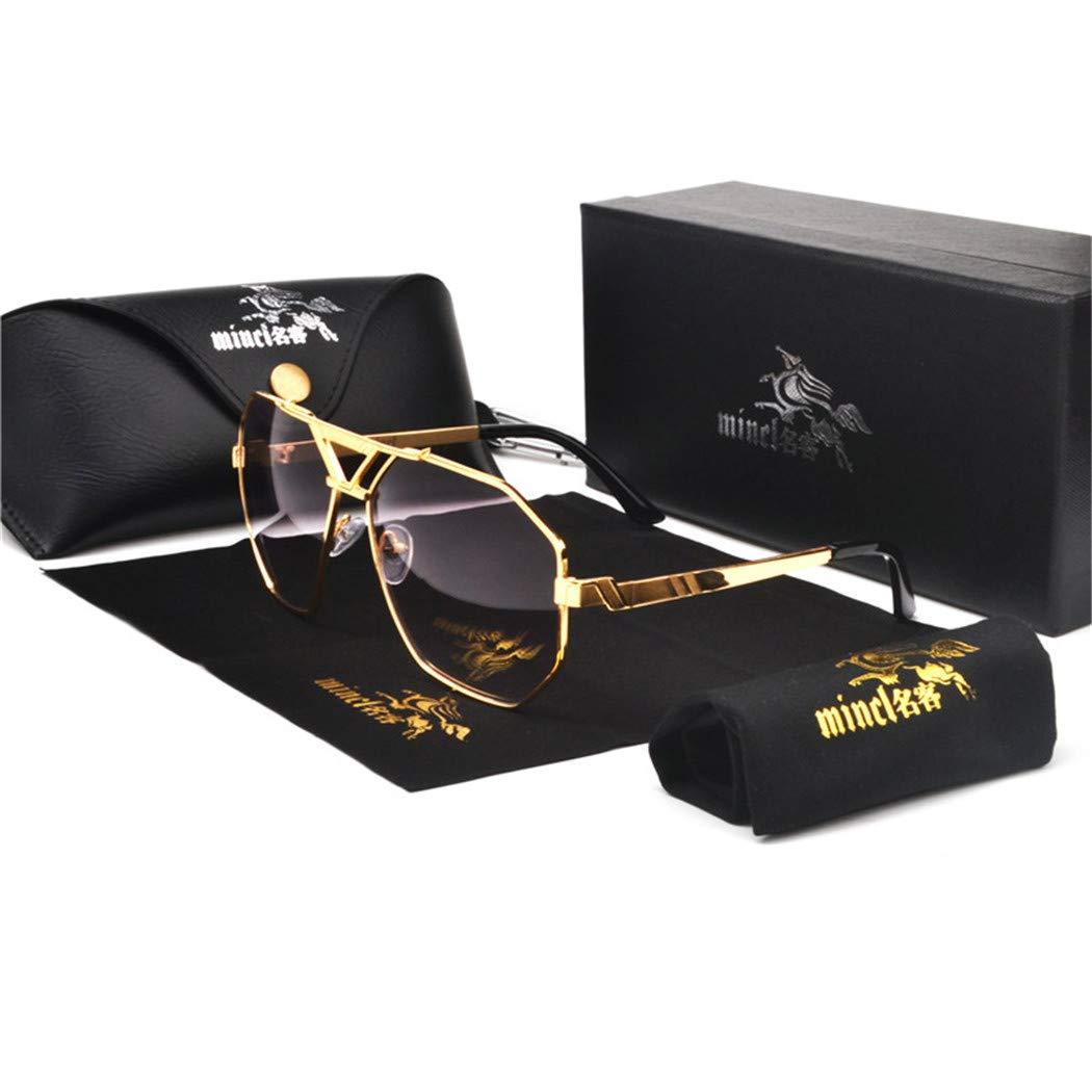Designer Sunglasses Men Women Vintage Oversized Glasses Man gold gray