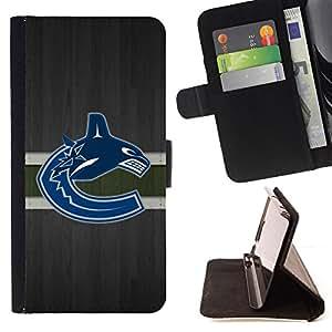 - Vancouver Canuck Ice Hockey - - Prima caja de la PU billetera de cuero con ranuras para tarjetas, efectivo desmontable correa para l Funny HouseFOR HTC DESIRE 816