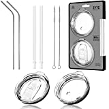 8 Piece Set For Yeti Straw,Rtic Lid,No Leak Sliding Closure 100% Spill Proof Straw Lid And Fits 30 oz Rambler Tumbler,Ozark Trail Cup Or More Brand Stainless Steel Mugs