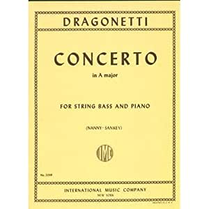 Dragonetti - Concerto in A Major - Double Bass and Piano - edited by Nanny/Sankey - International