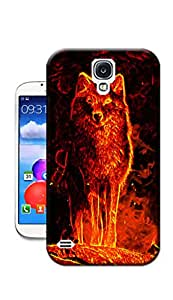 WLQ Hot Sale Phone Cover Protector for All People with Burning King-Wolf Snap on Hard Plastic Phone Case Skin Shell for Samsung S4 Case