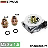 EPMAN Oil Cooler Filter Sandwich Plate + Thermostat Adapter AN10 Or AN8 Fittings M20x1.5mm
