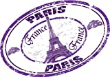 "Paris France Europe Eiffel Tower National Travel Stamp Bumper Sticker Decal 5""x 4"""
