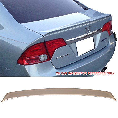 2010 Honda Silver Wing - Pre-Painted Trunk Spoiler Fits 2006-2011 Honda Civic 8th Sedan | Performance Style #NH700M Alabaster Silver Metallic ABS Rear Tail Lip Deck Boot Wing by IKON MOTORSPORTS | 2007 2008 2009 2010