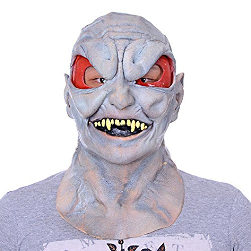 Dayseventh 2016 Bloody Face Off Horror Halloween Costume Mask Cosplay Costume (Devil Face Halloween)