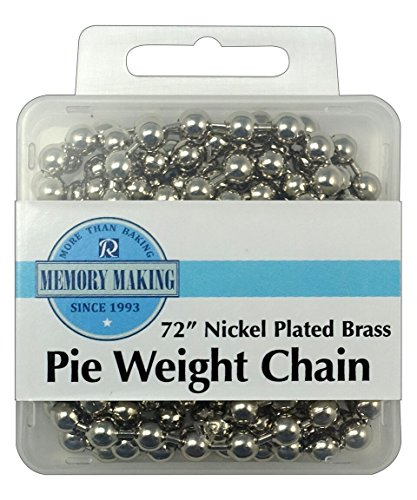 R&M International 2719 Nickel Plated Brass Pie Weight Chain, (Nickel Plated Cookware)
