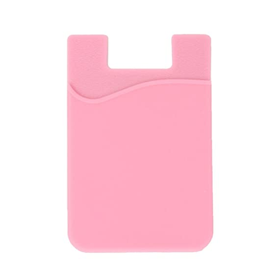 the latest 1679c 72429 Phone Wallet, ARKTEK Stick On Sleeve Cell Phone Case Adhesive Silicone  Credit Card Holder(Pink)