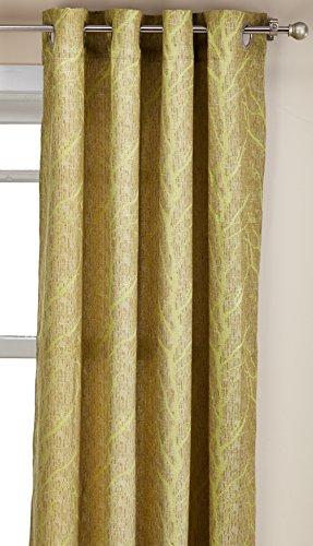 Living Egyptian Cotton Space - Elegance Linen Luxurious Heavy Weight Jacquard Window Curtain Panel Set 54