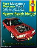 H36050 Haynes Ford Mustang 1979-1993 Mercury Capri 1979-1986 Auto Repair Manual