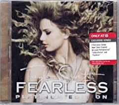 "Taylor Swift Fearless Platinum Deluxe Edition Includes 2 Exclusive Clear Channel Stripped Performance Songs ""untouchable"" And ""fearless"""