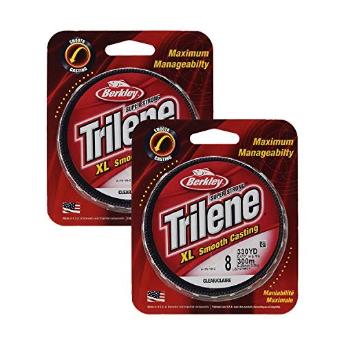 - Berkley Trilene XL Smooth Casting Monofilament Service Spools (XLPS10-15), 110 Yd, Pound Test 10 - Clear (2 Pack)
