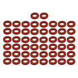 uxcell 50pcs Red Silicone Round Flat Washer Assortment Size 10x19x3mm Flat Washer