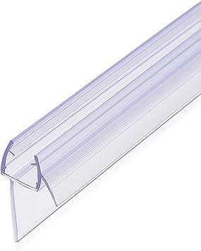 Navaris junta de recambio para ducha - Repuesto de PVC para puerta de cristal con grosor de 8MM con soporte de goteo en ángulo de 45 grados - 80CM: Amazon.es: Bricolaje y herramientas