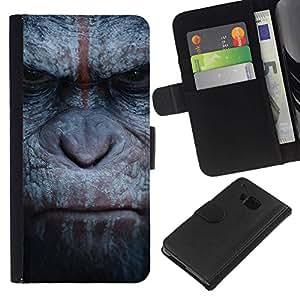 All Phone Most Case / Oferta Especial Cáscara Funda de cuero Monedero Cubierta de proteccion Caso / Wallet Case for HTC One M7 // Monkey Gorilla Primate Animal Nature