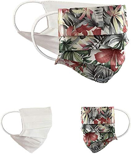 BaF Masque en Tissu 100% Coton Lavable OEKO-TEX 100 Lot de 2 Set Pack double Masque Buccal et Nasal Réutilisable
