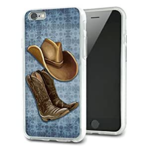 Cowboy Hat and Boots Country Slim Fit Hybrid Case Fits Apple iPhone 6 by lolosakes