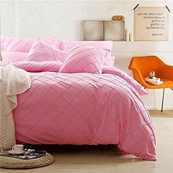 unimall parure de lit simple couleur pur ensemble 4 pices en polyster europen imprim luxe avec