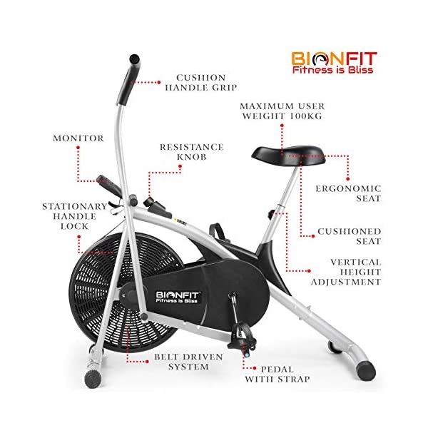 Upright Air Bike Exercise Cycle India 2021 with Dual Moving Arms | Review 1